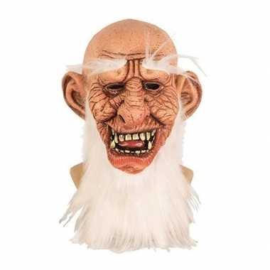 Halloween halloween masker oude man latex carnavalskleding valkenswaa