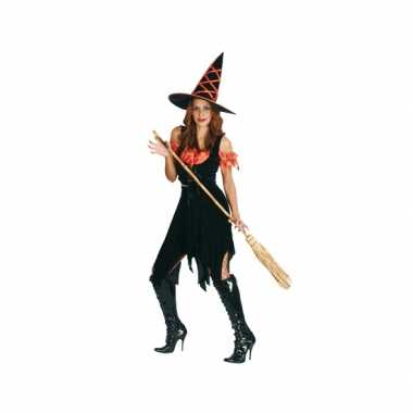 Halloween heksen carnavalskleding zwart oranje valkenswaard