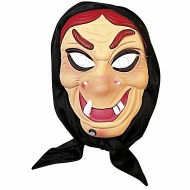Halloween heksen masker rood haar hoofddoek carnavalskleding valkensw