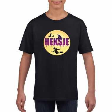 Halloween heksje t shirt zwart meisjes carnavalskleding valkenswaard