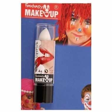 Halloween/horror mat witte lippenstift/lipstick carnavalskleding valk