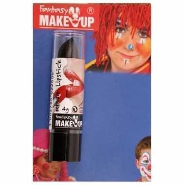 Halloween/horror mat zwarte lippenstift/lipstick carnavalskleding val