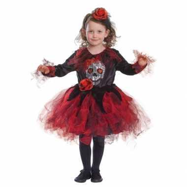 Halloween jurkje doodshoofd carnavalskleding Valkenswaard