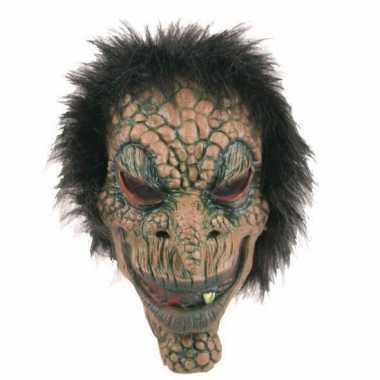 Halloween latex horror masker boommonster carnavalskleding valkenswaa