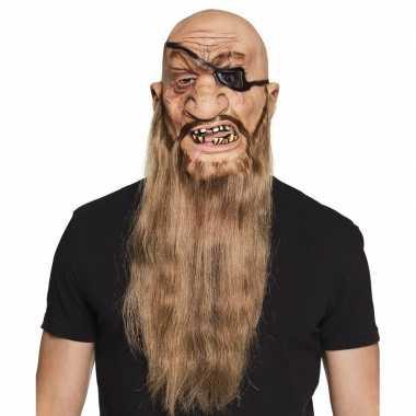 Halloween latex piraten masker volwassenen carnavalskleding valkenswa