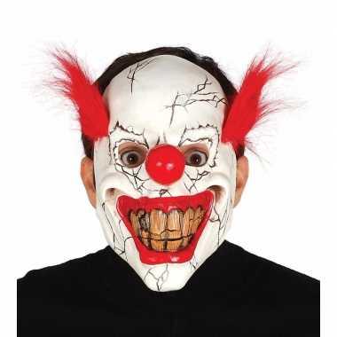 Halloween masker horror clown rood haar carnavalskleding valkenswaard