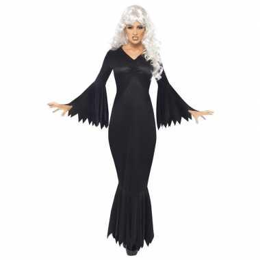 Halloween vampieren jurk zwart dames carnavalskleding valkenswaard