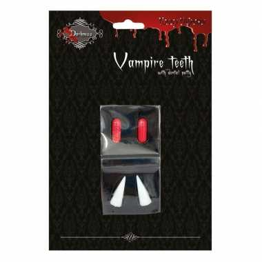 Halloween vampiertanden halloween bloedcapsules carnavalskleding valk