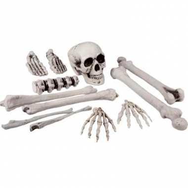 Halloween zak beenderen stuks carnavalskleding valkenswaard
