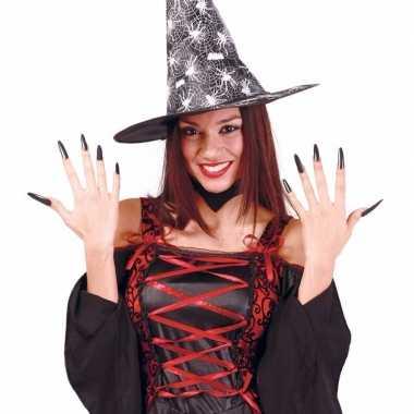 Halloween zwarte lange kunstnagels carnavalskleding valkenswaard