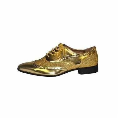 Heren party schoenen goud