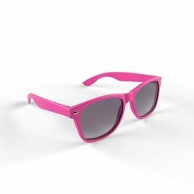 Hippe zonnebril roze montuur carnavalskleding Valkenswaard