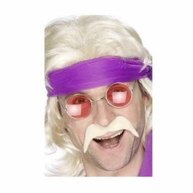 Hippie accessoires verkleedset snor bril carnavalskleding valkenswaar