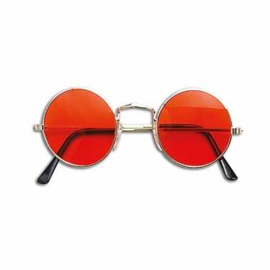 Hippie flower power bril oranje carnavalskleding valkenswaard