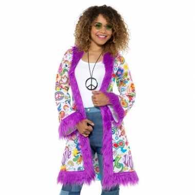 Hippie groovy jas dames carnavalskleding valkenswaard