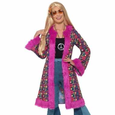 Hippie peace jas dames carnavalskleding valkenswaard