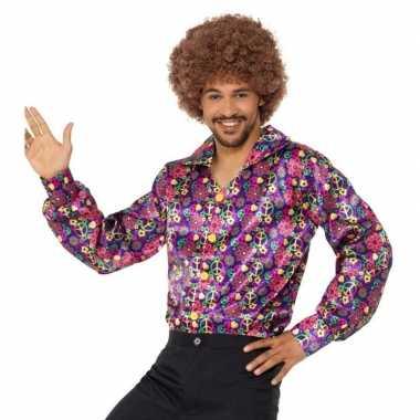 Hippie peace overhemd heren carnavalskleding valkenswaard