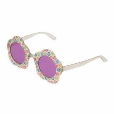 Hippie verkleed bril paarse glazen volwassenen carnavalskleding valke