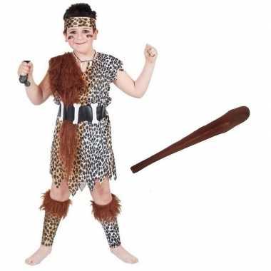 Holbewoner carnavalskleding maat l knots kinderen valkenswaard