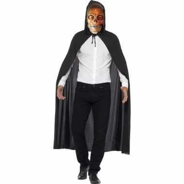 Horror cape transparante skelet masker carnavalskleding valkenswaard