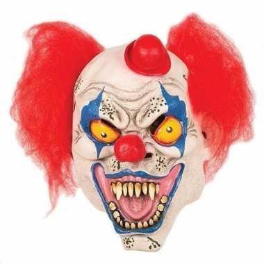 Horror clown masker hoedje carnavalskleding valkenswaard