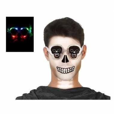 Horror doodskop verkleed bril verlichting volwassen carnavalskleding