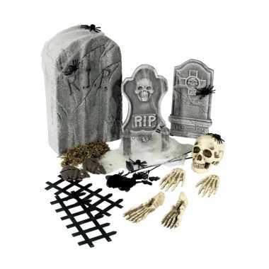 Horror kerkhof versiering set carnavalskleding Valkenswaard