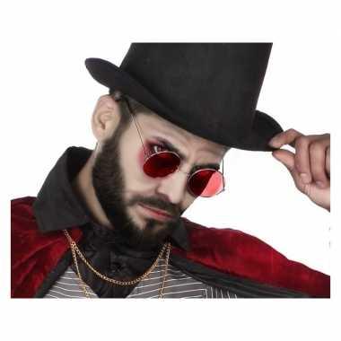 Horror rode dracula verkleed bril volwassenen carnavalskleding valken