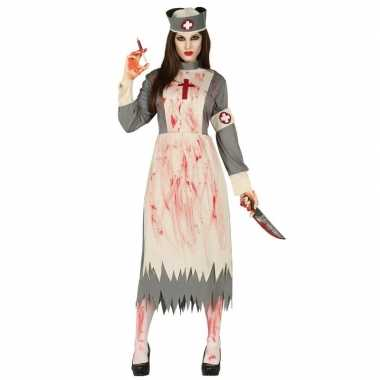 Horror verpleegster/zuster verkleed carnavalskleding dames valkenswaa