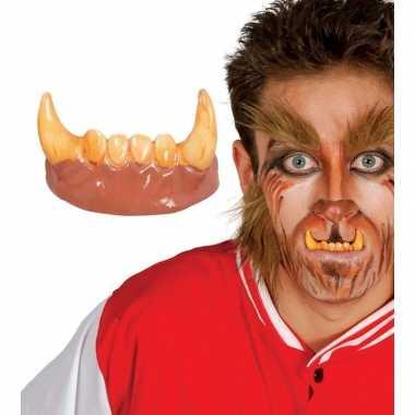Horror weerwolf gebit/neptanden halloween accessoire carnavalskleding