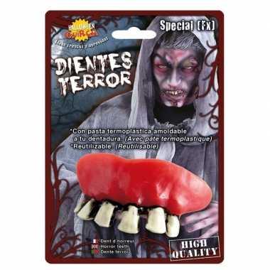 Horror zombie gebit/neptanden halloween accessoire carnavalskleding v