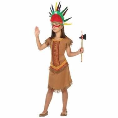 Indiaan/indianen jurk/jurkje verkleed carnavalskleding meisjes valken