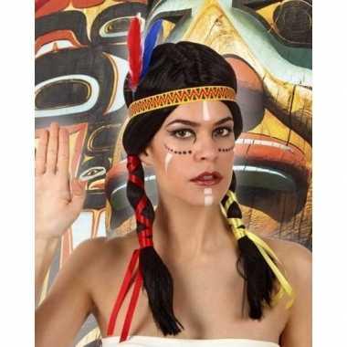 Indianen verkleed pruik staarten dames carnavalskleding valkenswaard