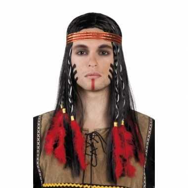 Inidanen pruik hoofdband vlechten carnavalskleding Valkenswaard