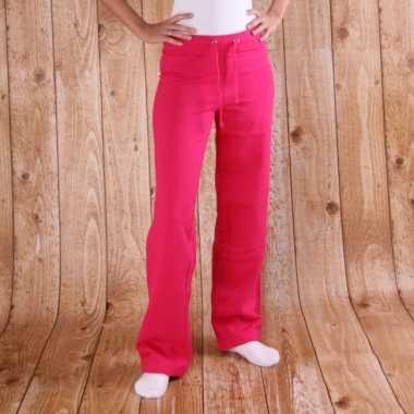 Joggingbroek roze dames carnavalskleding valkenswaard