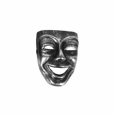 Joker masker zilver zwart carnavalskleding valkenswaard