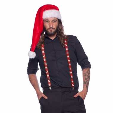 Kerst bretels rood wit volwassenen