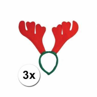 Kerst rudolf haarband rendier gewei x carnavalskleding valkenswaard
