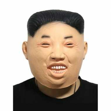 Kim jong un fun verkleed masker volwassenen carnavalskleding valkensw