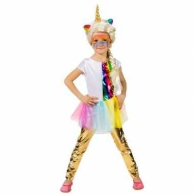 Kinder verkleed legging goud carnavalskleding valkenswaard