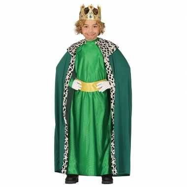 Koning mantel groen verkleedcarnavalskleding kinderen valkenswaard