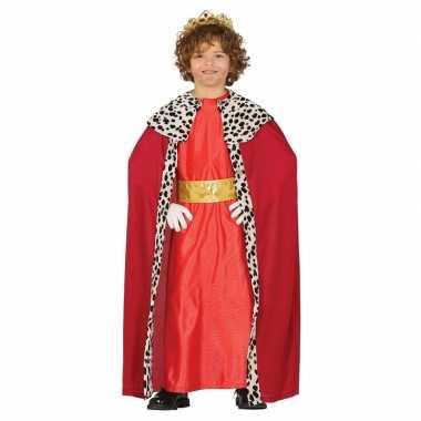 Koning mantel rood verkleedcarnavalskleding kinderen valkenswaard