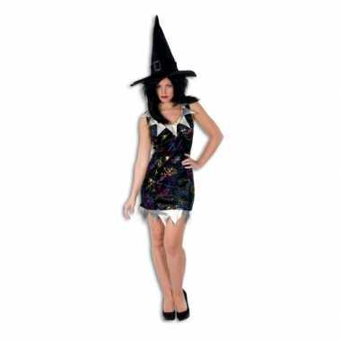 Korte dames jurk heksen carnavalskleding valkenswaard