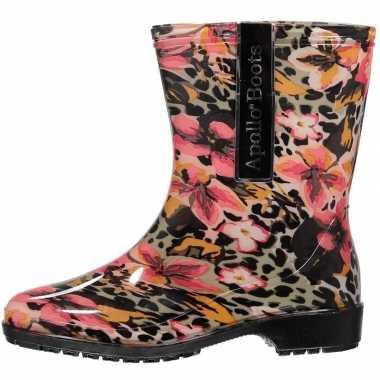 Korte festival laarzen luipaardprint carnavalskleding valkenswaard
