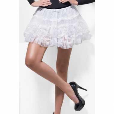 Korte witte petticoats dames carnavalskleding Valkenswaard