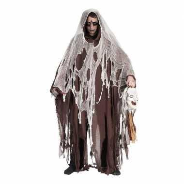 Lange bruine halloween verkleed mantel carnavalskleding valkenswaard