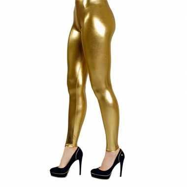 Legging goud carnavalskleding valkenswaard