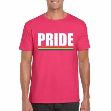 Lgbt shirt roze pride heren carnavalskleding valkenswaard