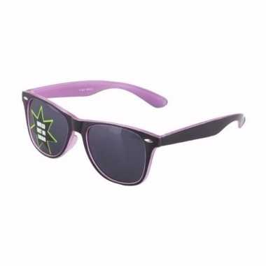 Lichtgevende paarse brillen carnavalskleding valkenswaard