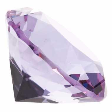 Lila paarse nep diamant glas 10095197